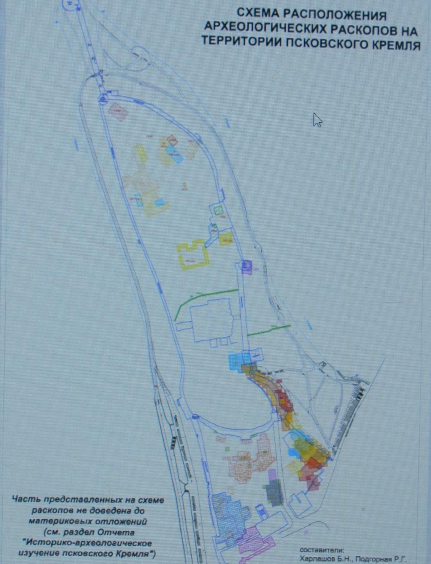 C:\Users\Раиса\Desktop\Стройэкспертиза 19.02.2020 Псков2\ЭКСПЕРТНОЕ заключение\Археологические исследования\Схема расположения археологических раскопов.для заключения.jpg